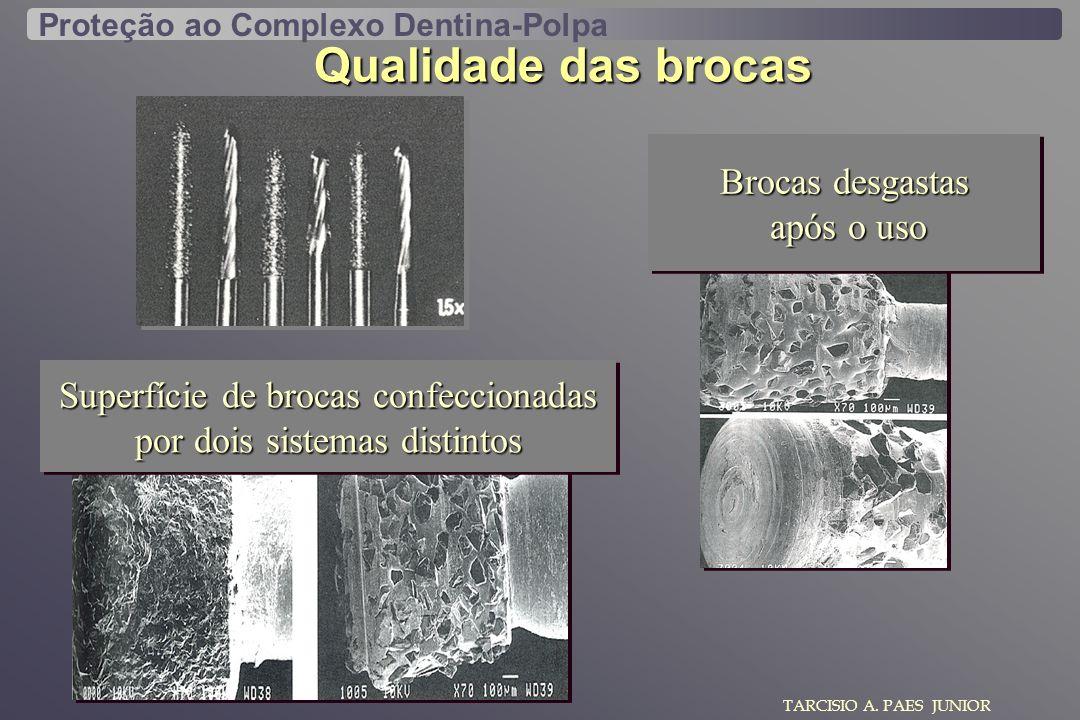 Qualidade das brocas Brocas desgastas após o uso