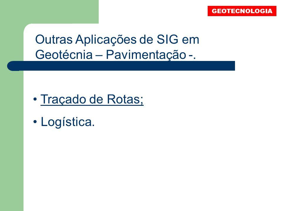 Outras Aplicações de SIG em Geotécnia – Pavimentação -.