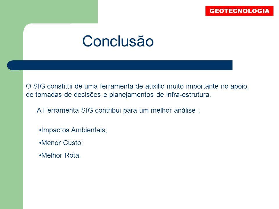 GEOTECNOLOGIA Conclusão.