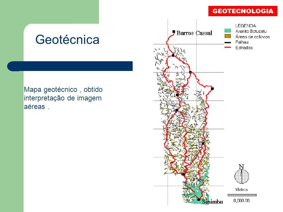 Geotécnica Mapa geotécnico , obtido interpretação de imagem aéreas .