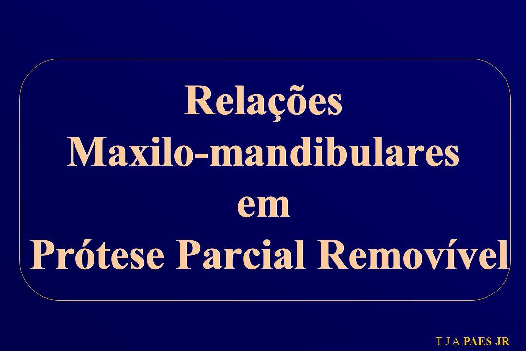 Relações Maxilo-mandibulares em Prótese Parcial Removível