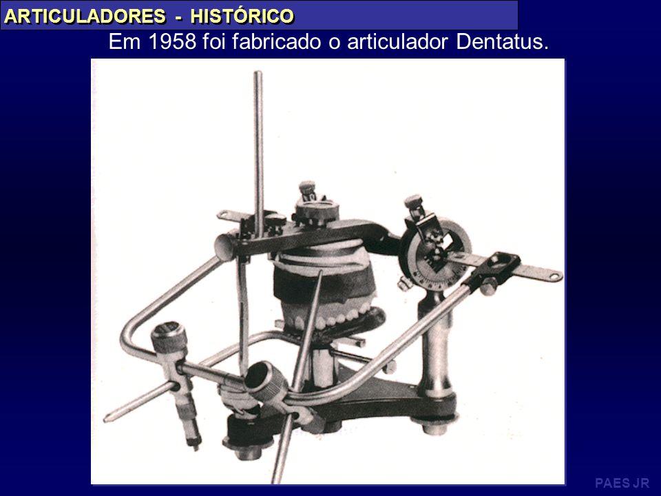 Em 1958 foi fabricado o articulador Dentatus.