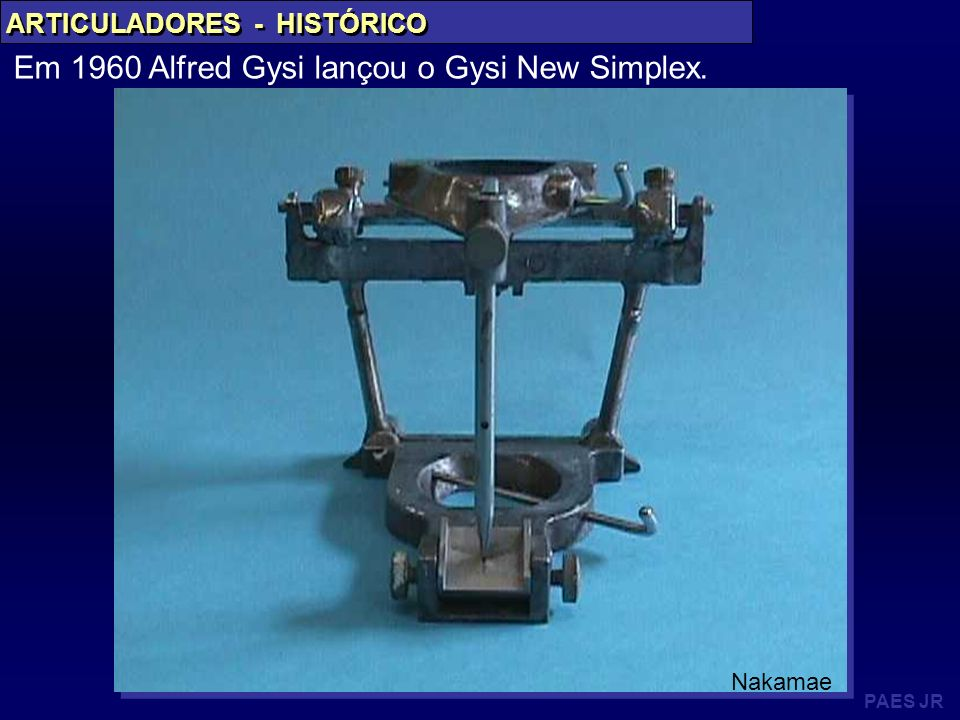Em 1960 Alfred Gysi lançou o Gysi New Simplex.