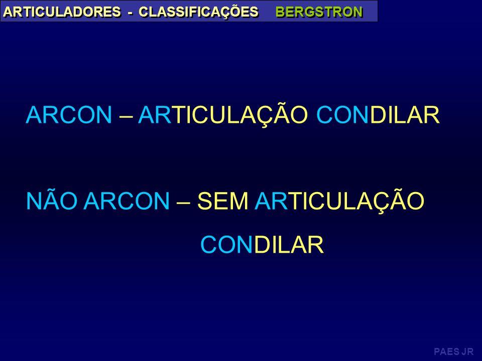 ARCON – ARTICULAÇÃO CONDILAR