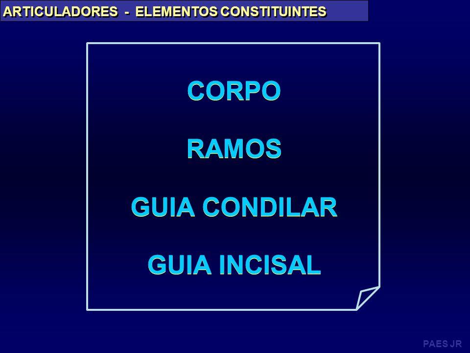 CORPO RAMOS GUIA CONDILAR GUIA INCISAL