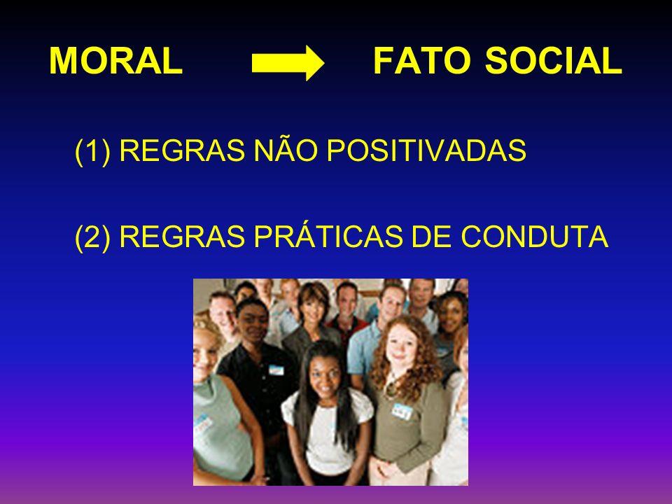MORAL FATO SOCIAL (1) REGRAS NÃO POSITIVADAS