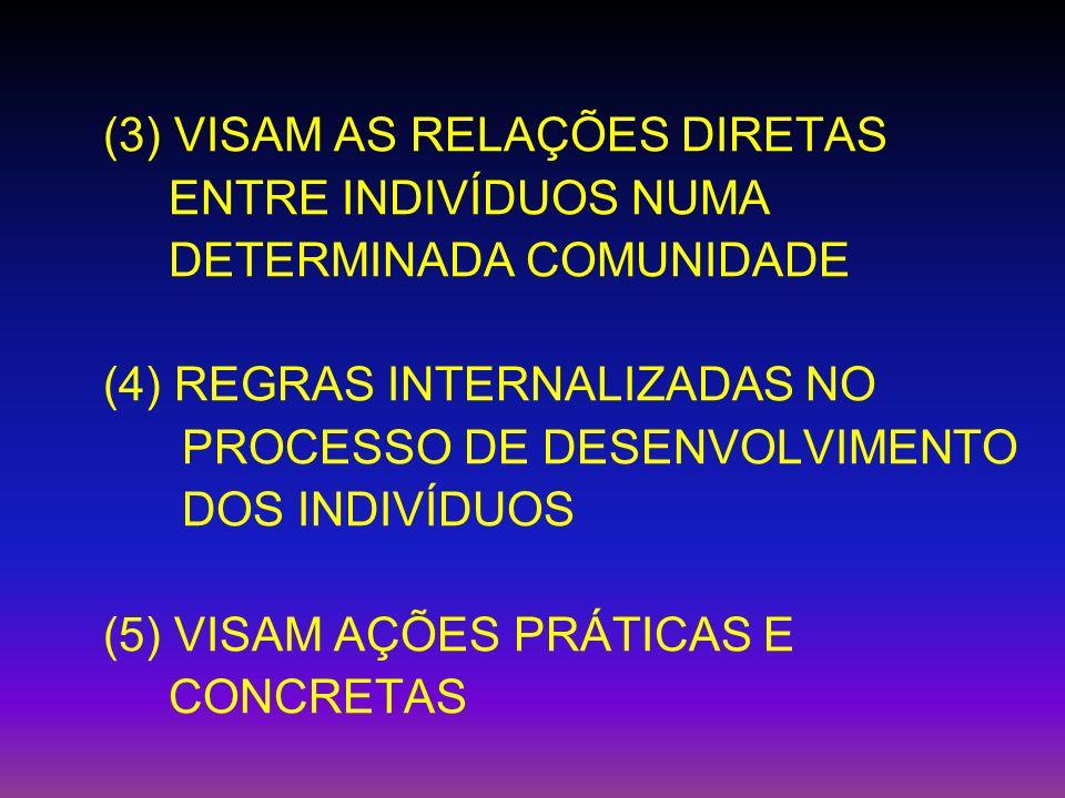(3) VISAM AS RELAÇÕES DIRETAS
