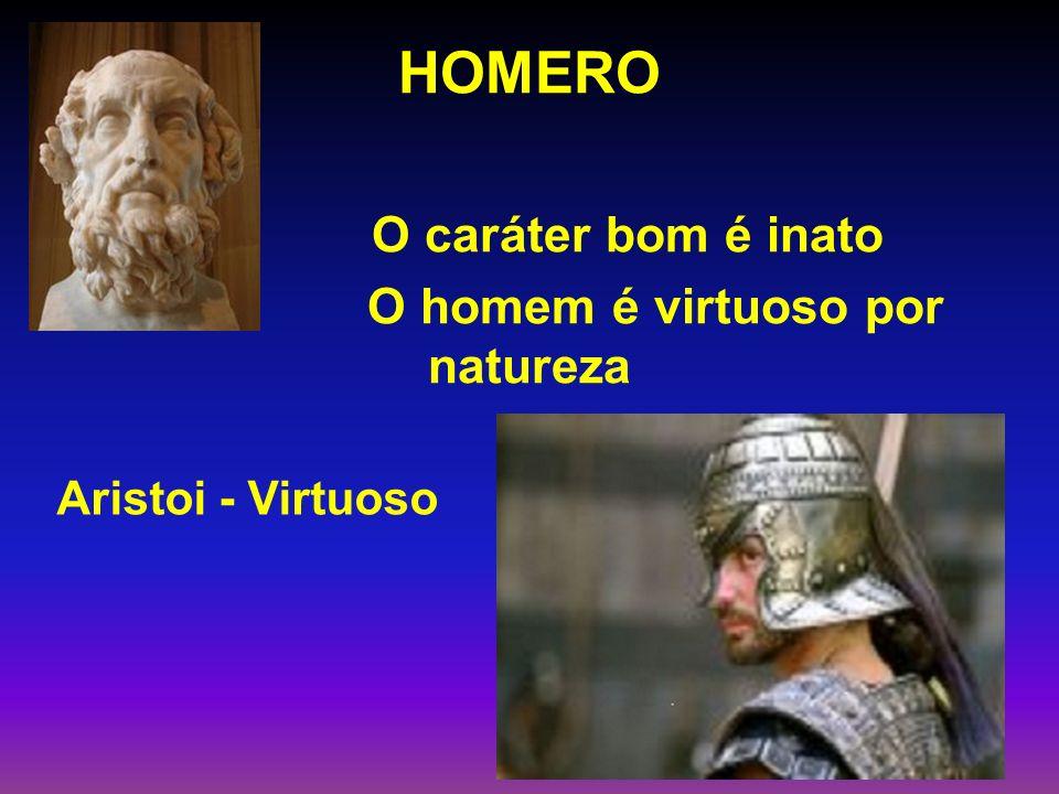 HOMERO O caráter bom é inato O homem é virtuoso por natureza
