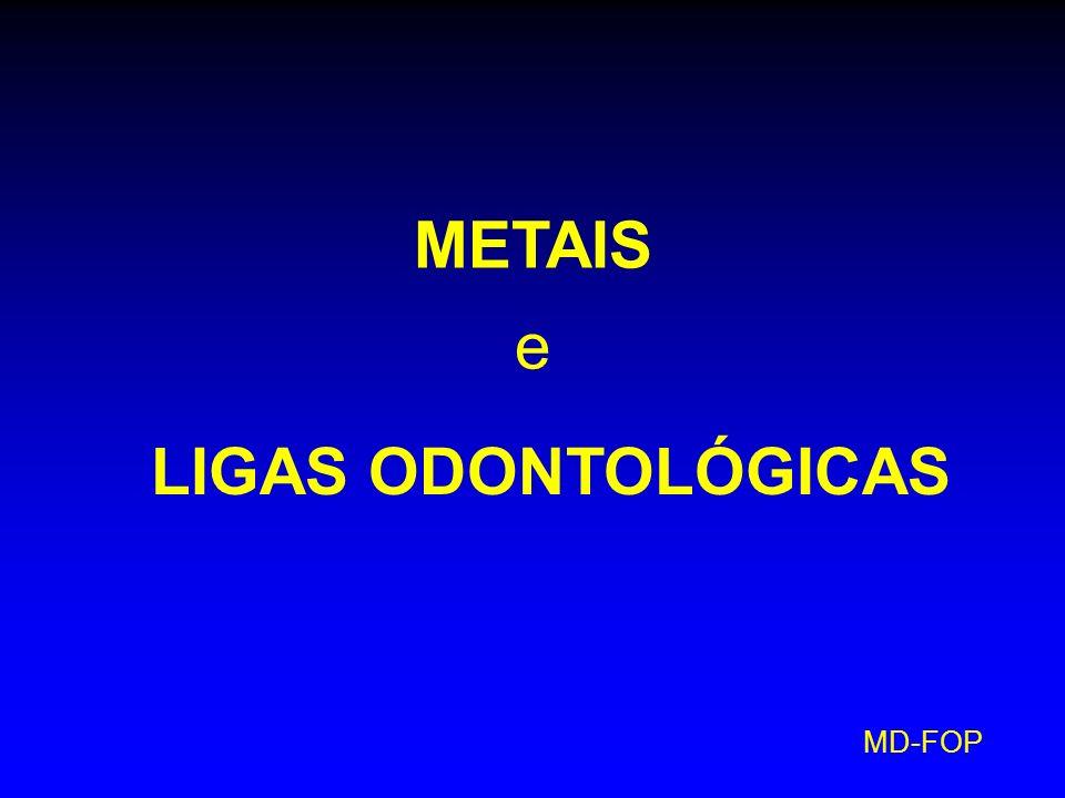 METAIS e LIGAS ODONTOLÓGICAS MD-FOP