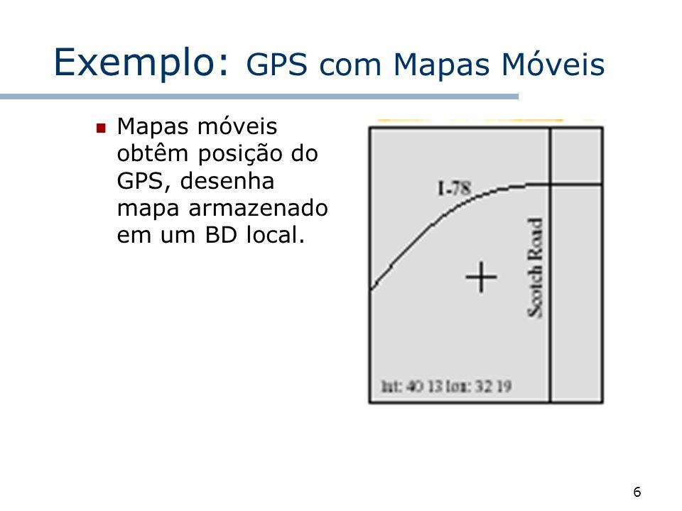 Exemplo: GPS com Mapas Móveis