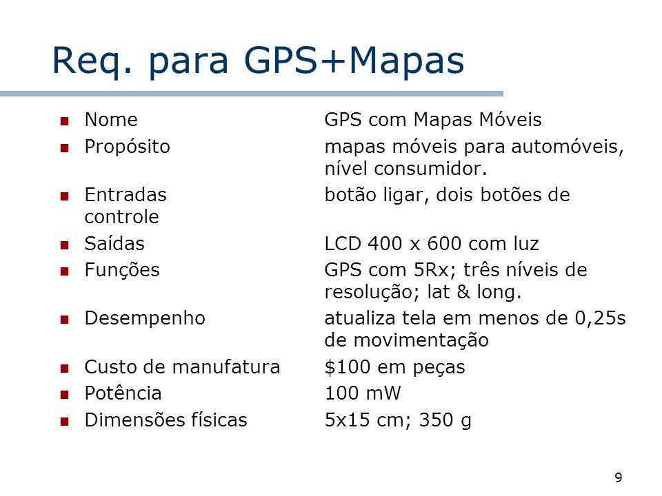 Req. para GPS+Mapas Nome GPS com Mapas Móveis