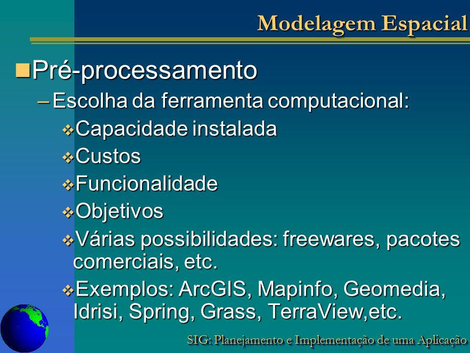 Pré-processamento Modelagem Espacial
