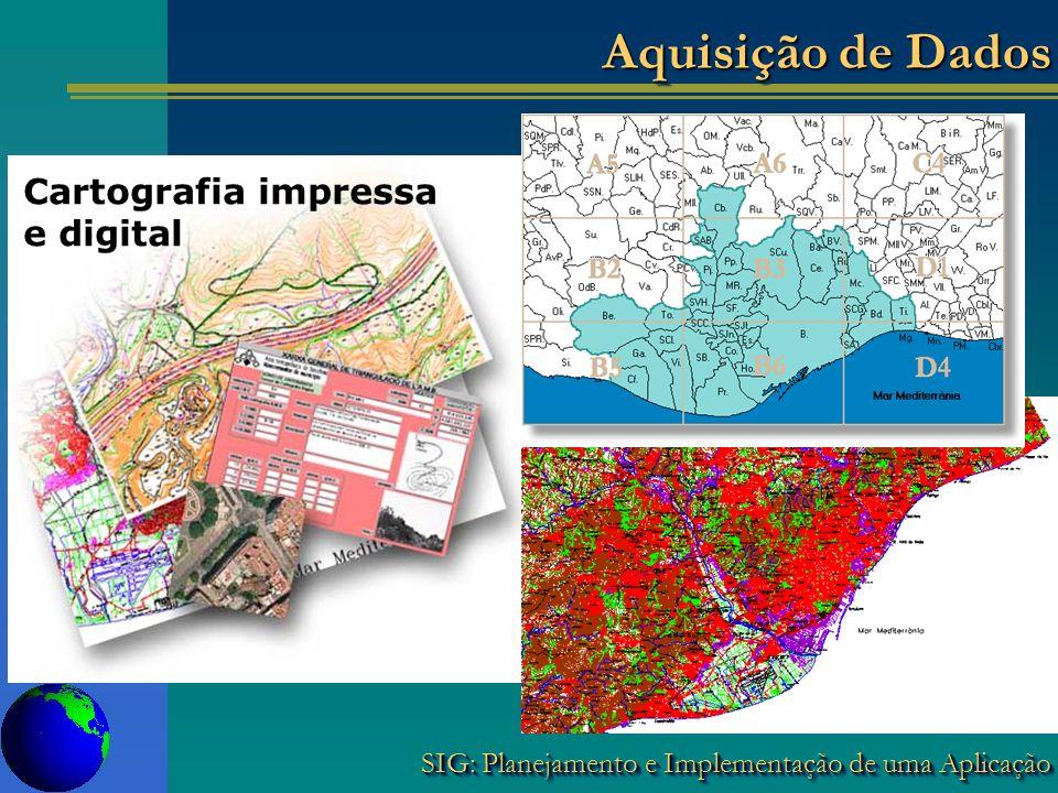 Aquisição de Dados Cartografia impressa e digital