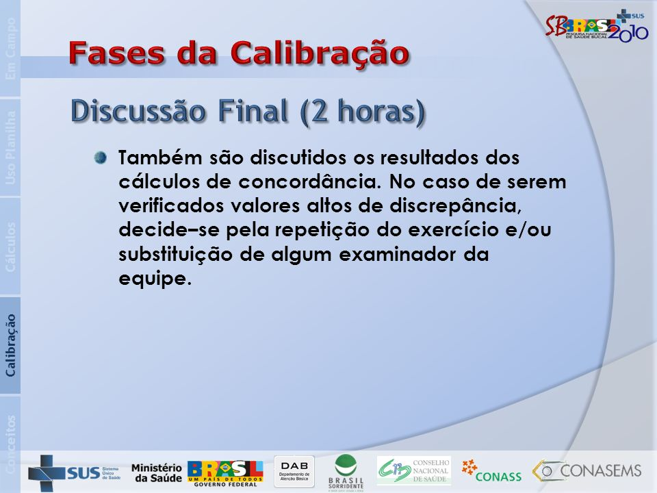 Discussão Final (2 horas)