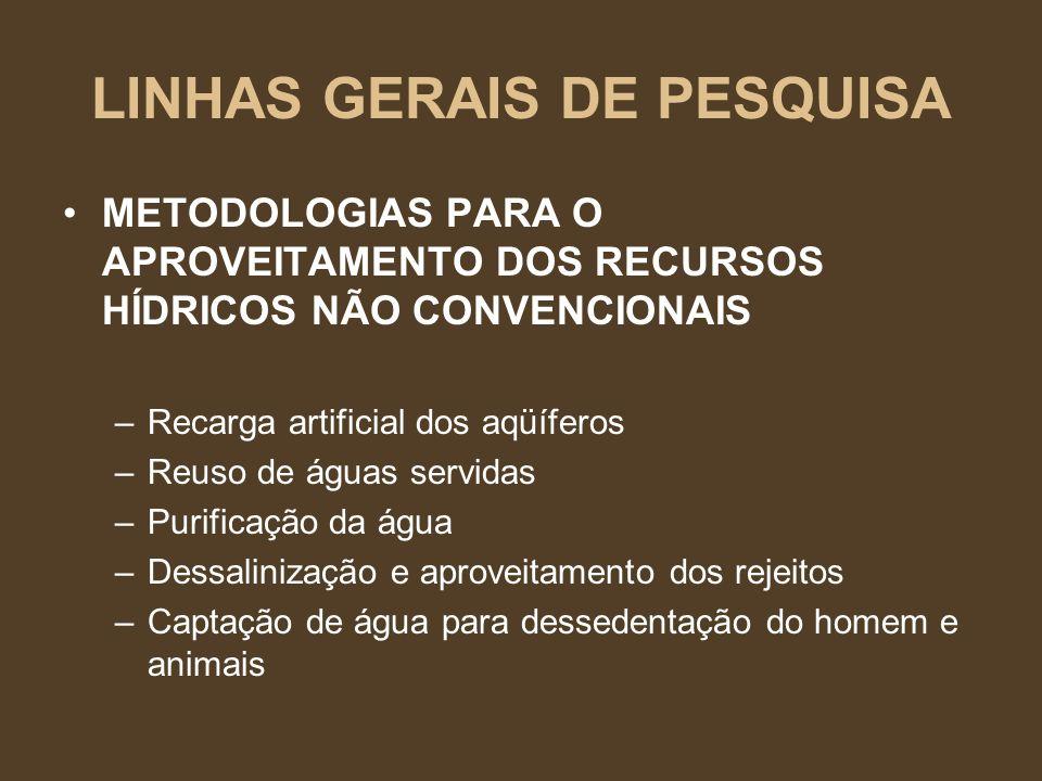 LINHAS GERAIS DE PESQUISA