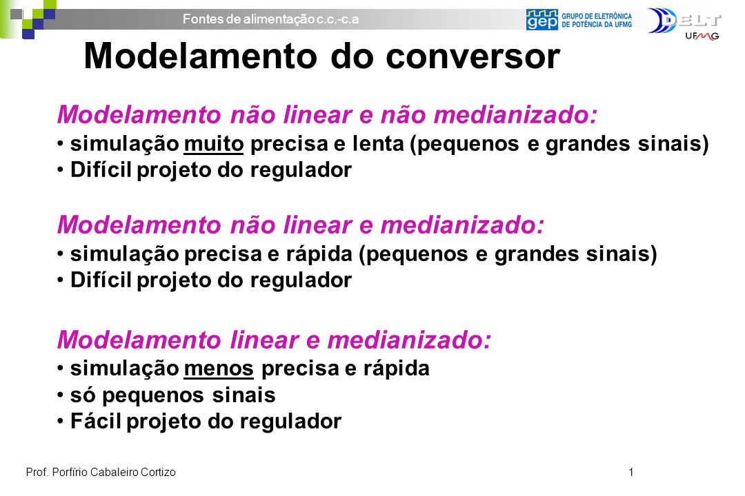 Modelamento do conversor