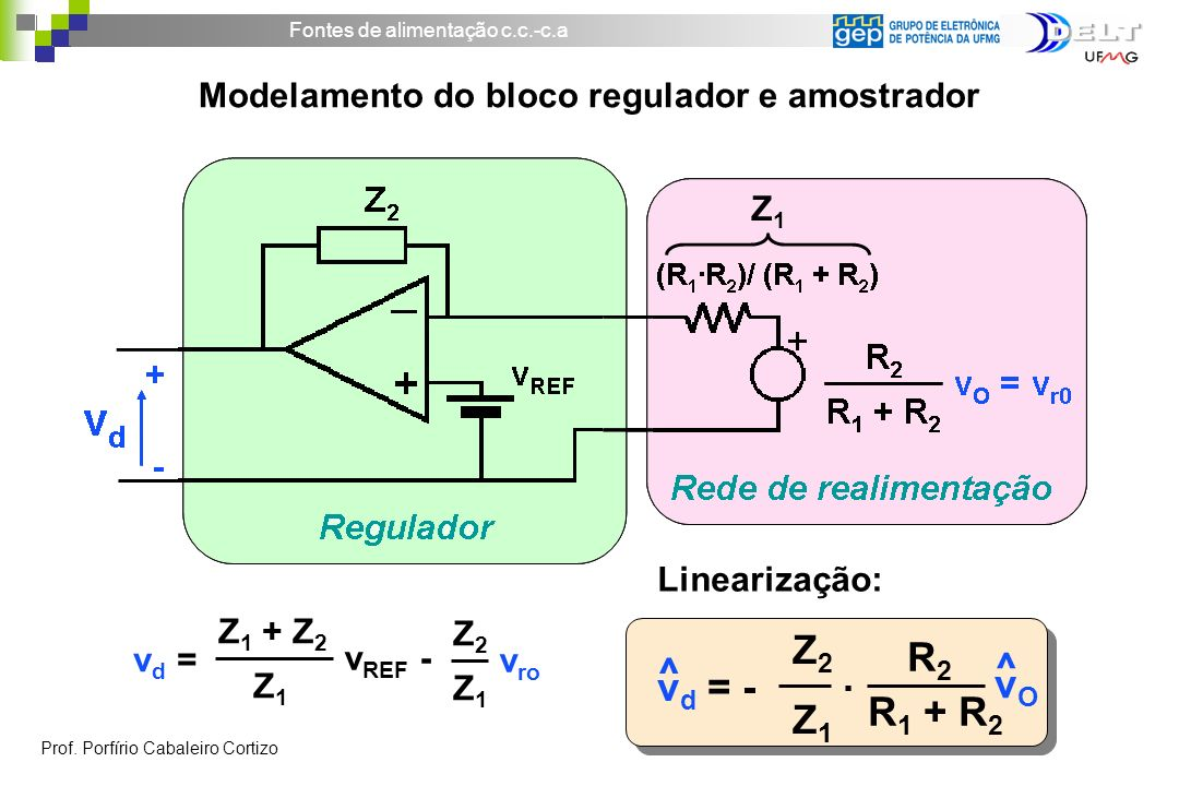 Modelamento do bloco regulador e amostrador