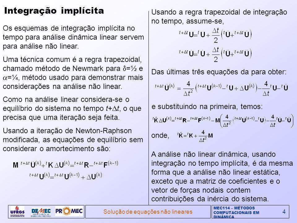 Solução de equações não lineares
