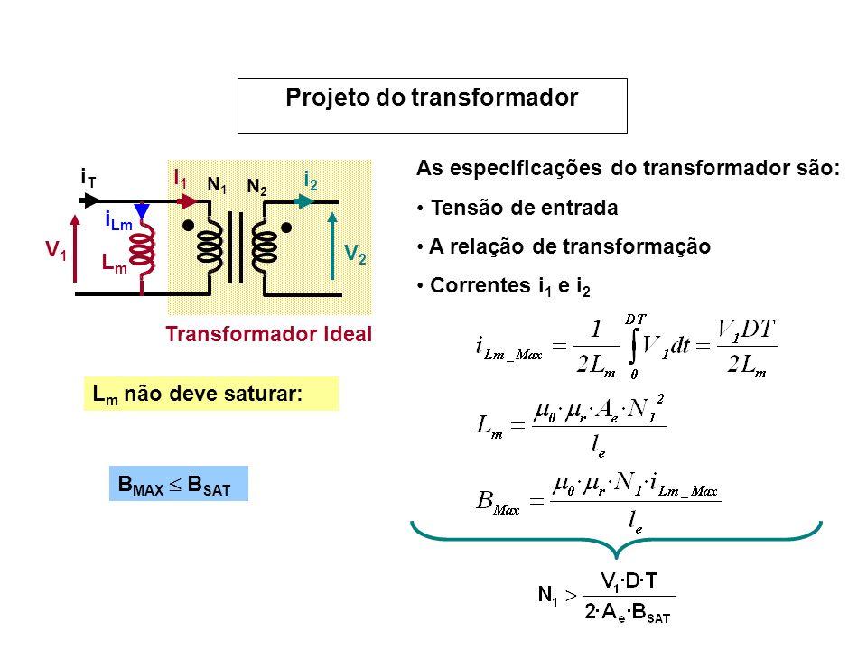 Projeto do transformador