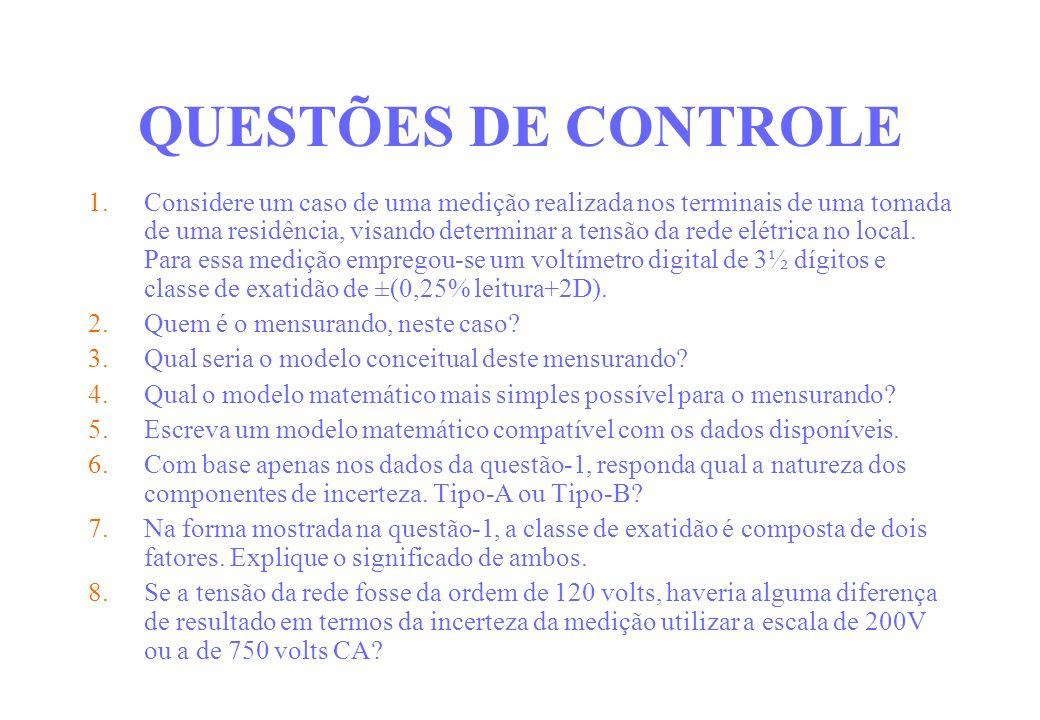 QUESTÕES DE CONTROLE