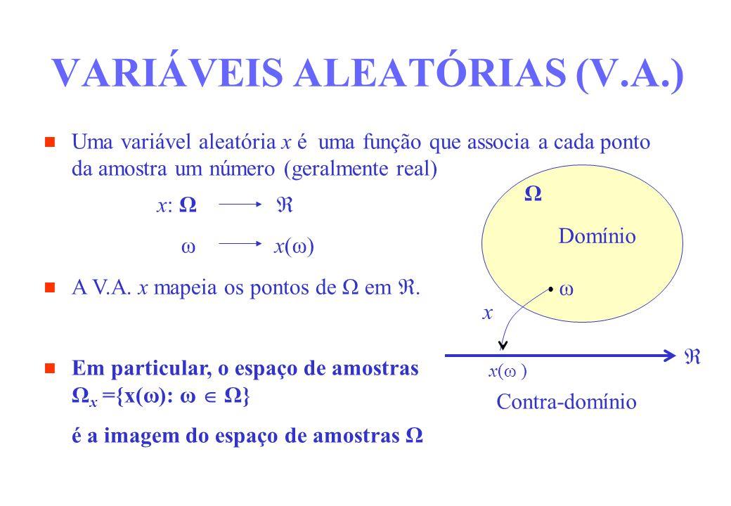 VARIÁVEIS ALEATÓRIAS (V.A.)