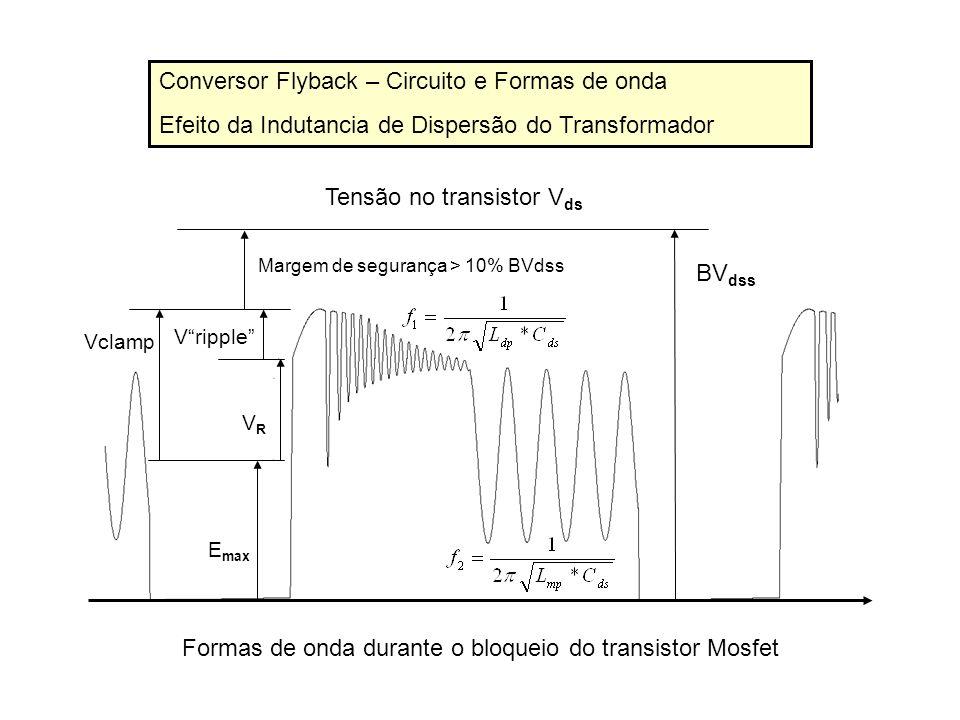 Conversor Flyback – Circuito e Formas de onda