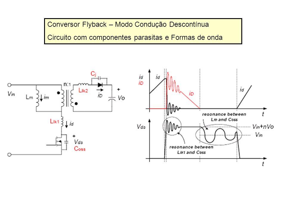 Conversor Flyback – Modo Condução Descontínua