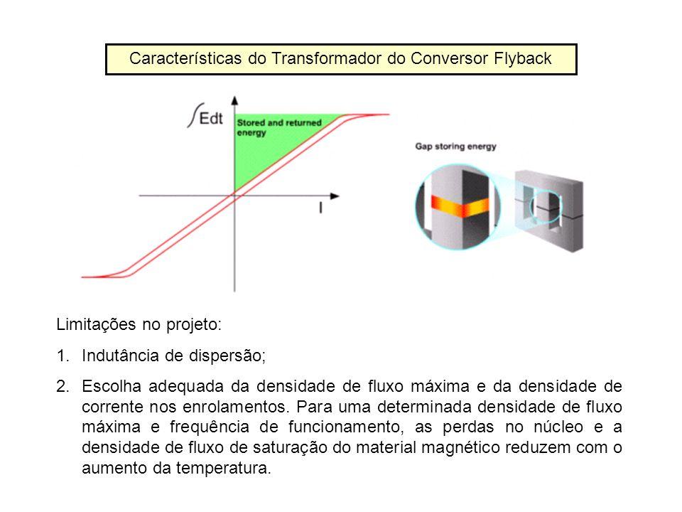 Características do Transformador do Conversor Flyback