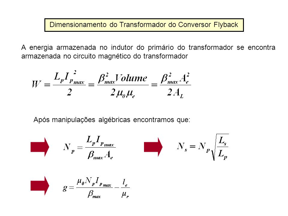 Dimensionamento do Transformador do Conversor Flyback