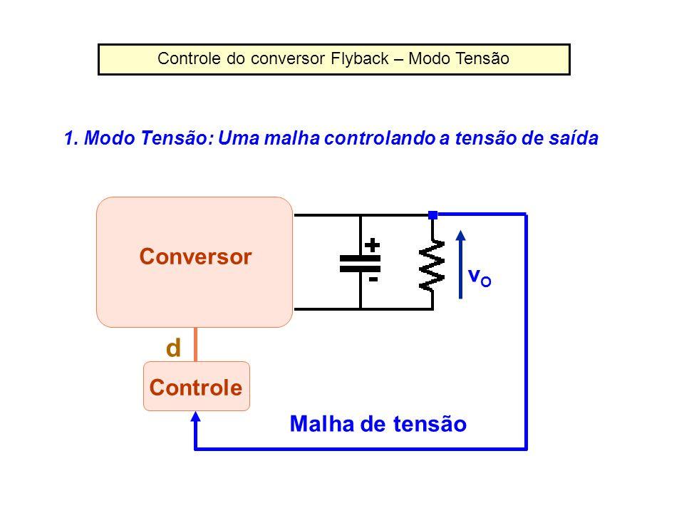 Controle do conversor Flyback – Modo Tensão