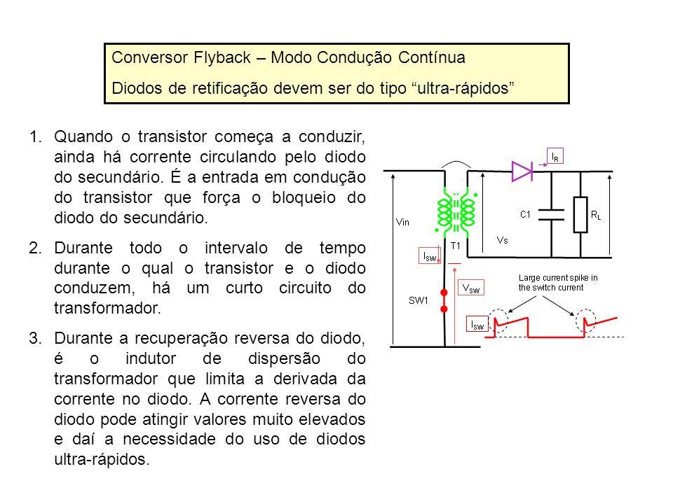 Conversor Flyback – Modo Condução Contínua