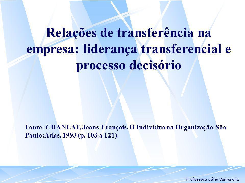 Relações de transferência na empresa: liderança transferencial e processo decisório