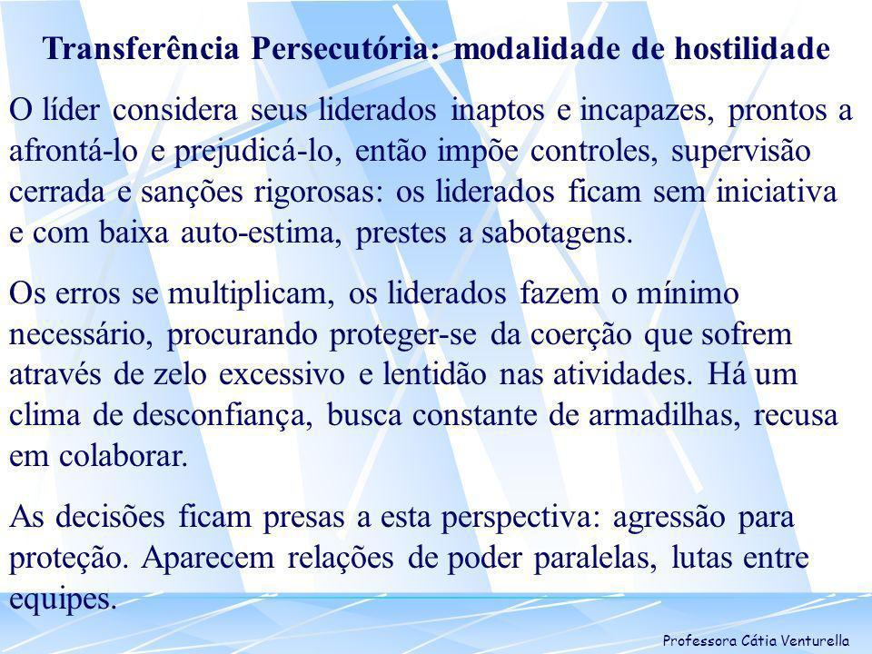 Transferência Persecutória: modalidade de hostilidade