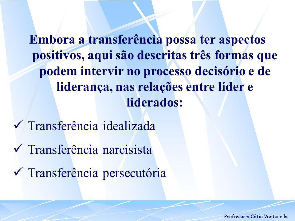 Transferência idealizada Transferência narcisista
