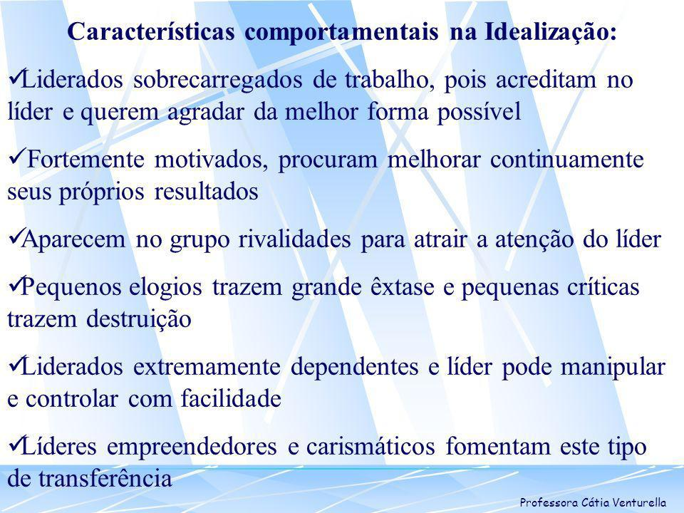 Características comportamentais na Idealização: