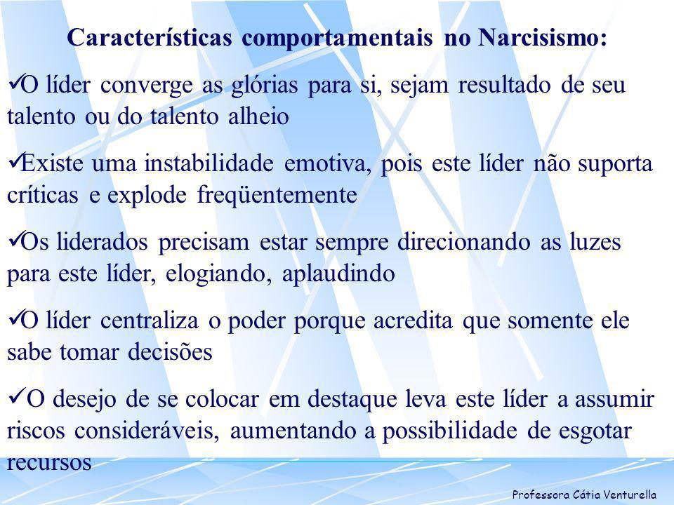 Características comportamentais no Narcisismo: