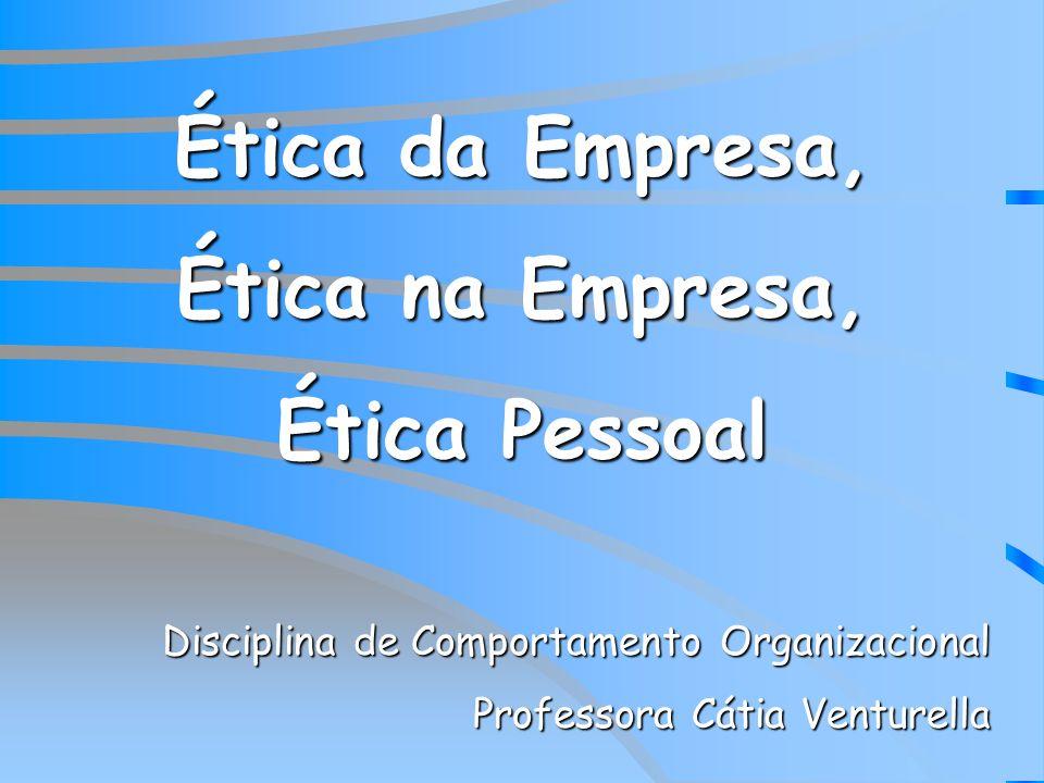 Ética da Empresa, Ética na Empresa,