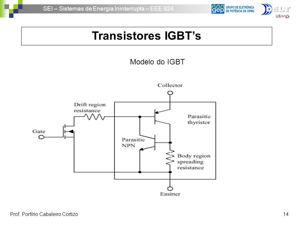 Transistores IGBT's Modelo do IGBT.