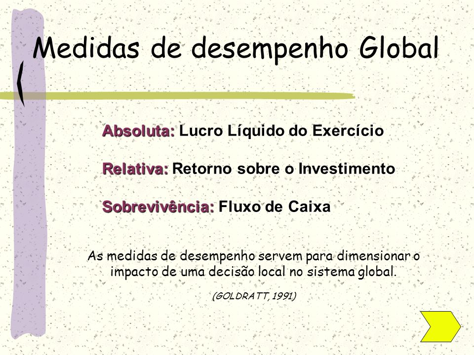 Medidas de desempenho Global
