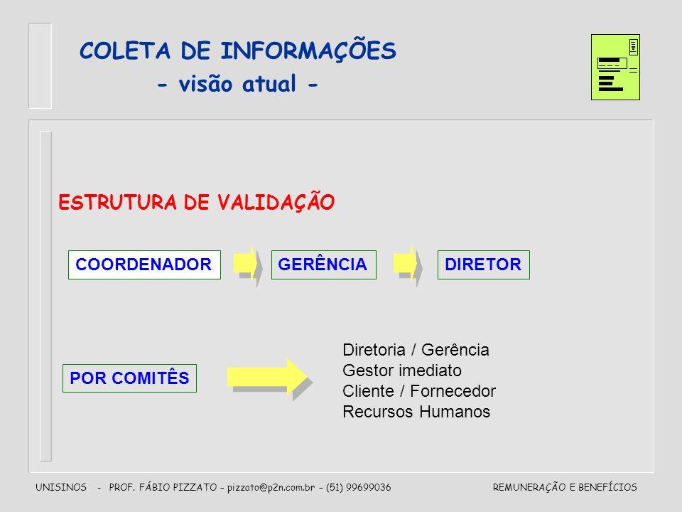 COLETA DE INFORMAÇÕES - visão atual -