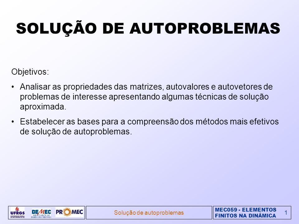 SOLUÇÃO DE AUTOPROBLEMAS