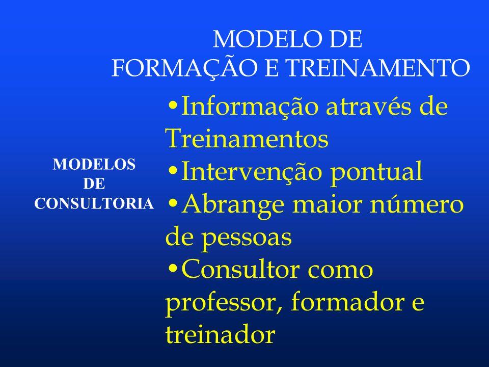 FORMAÇÃO E TREINAMENTO