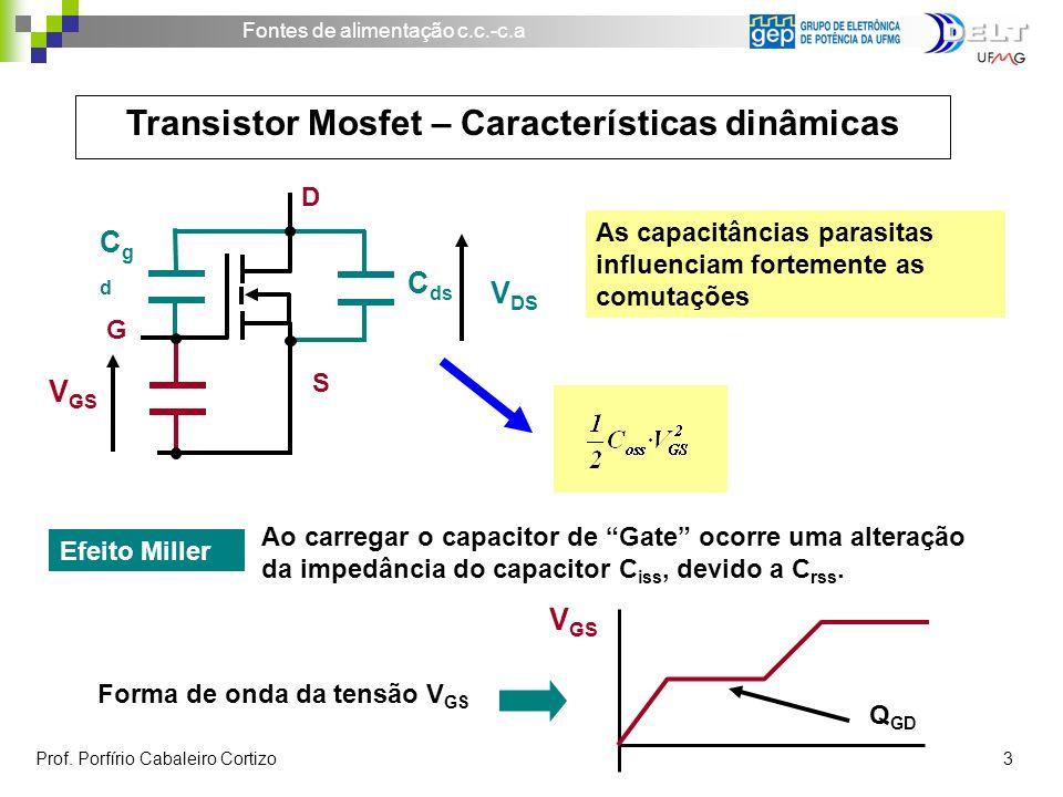 Transistor Mosfet – Características dinâmicas