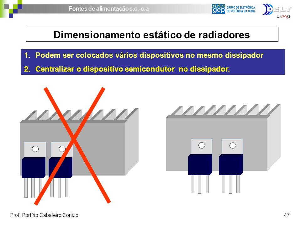 Dimensionamento estático de radiadores