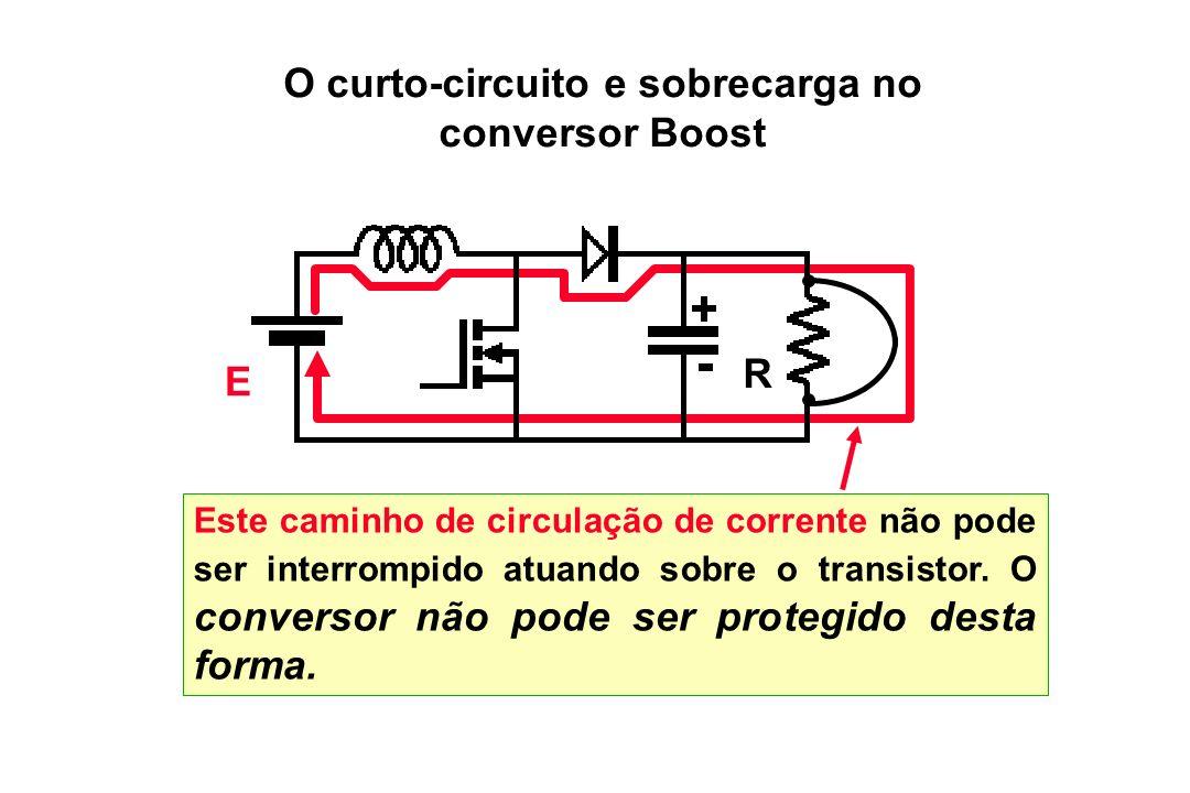O curto-circuito e sobrecarga no conversor Boost