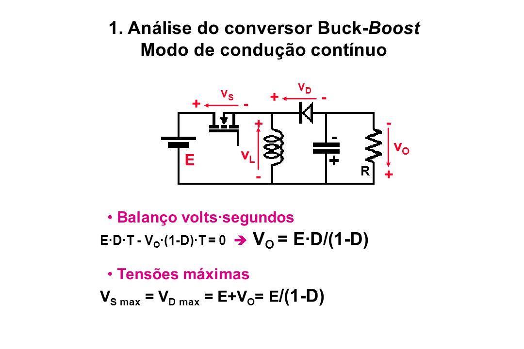 1. Análise do conversor Buck-Boost Modo de condução contínuo