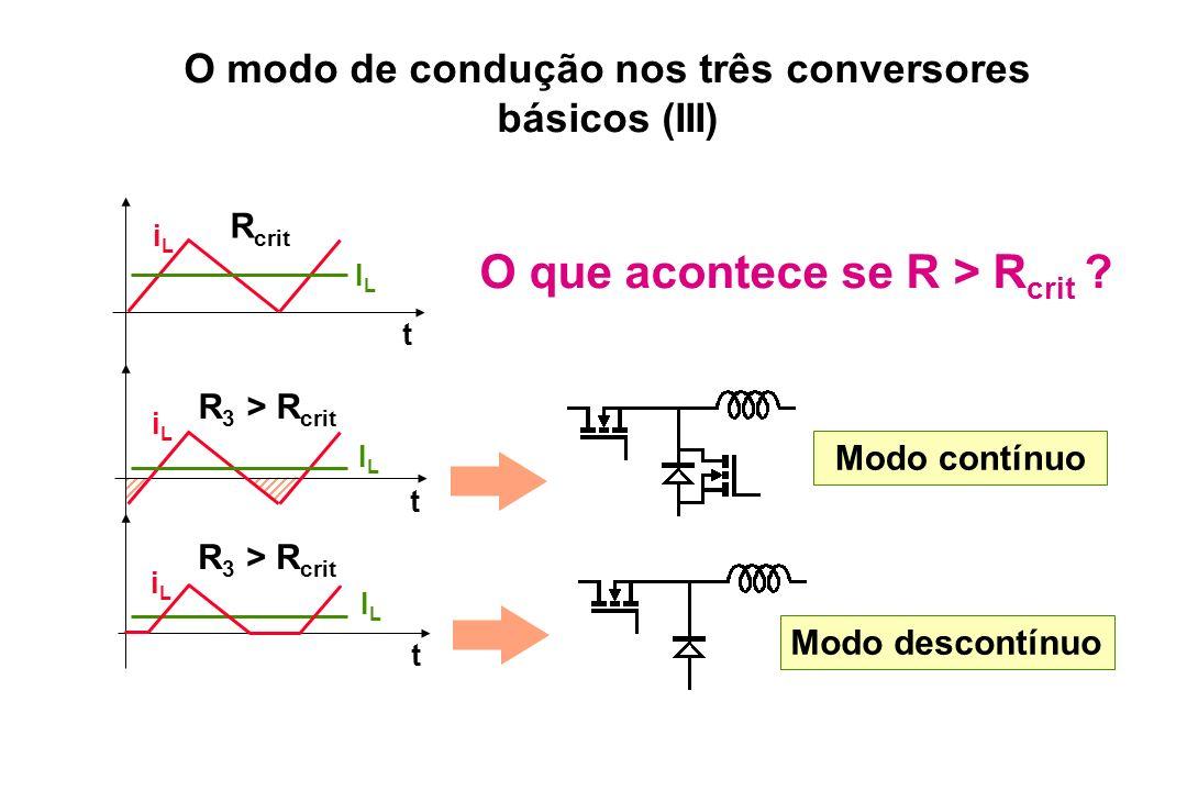 O modo de condução nos três conversores básicos (III)