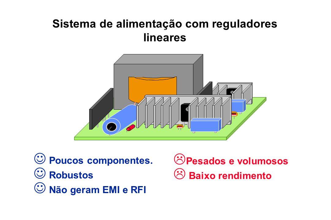 Sistema de alimentação com reguladores lineares