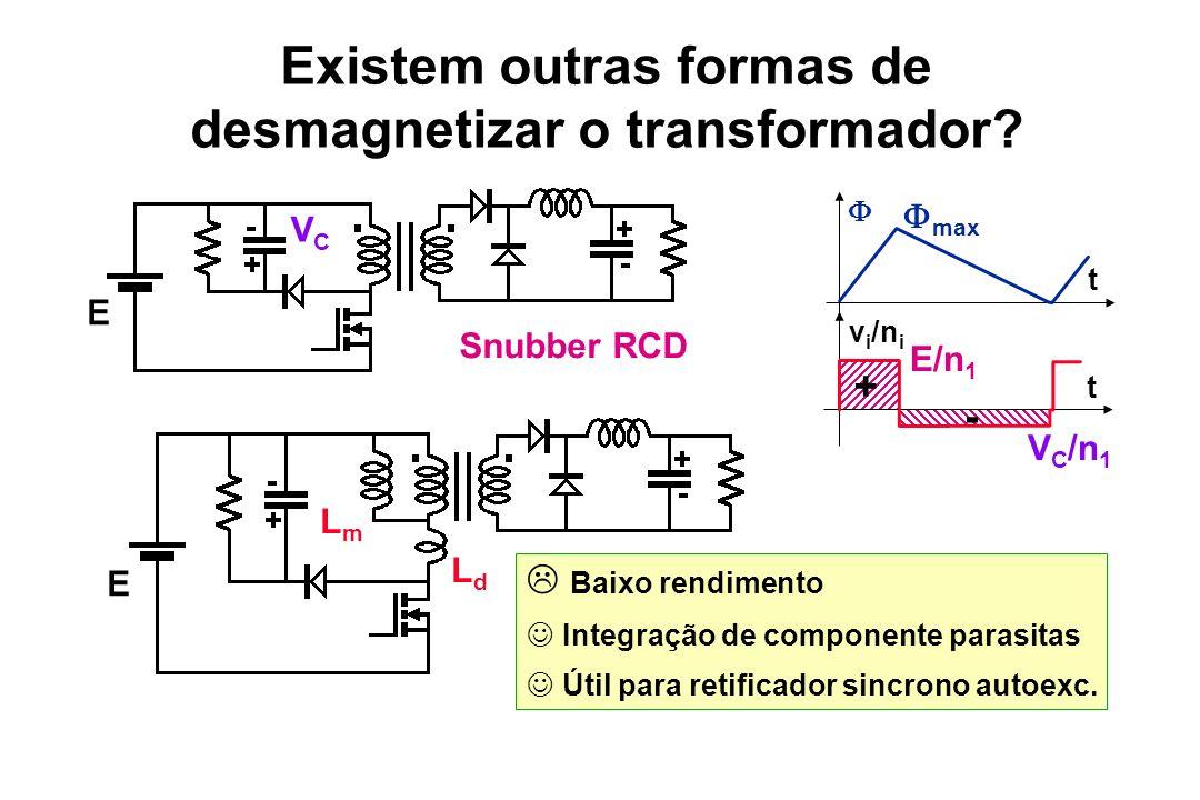Existem outras formas de desmagnetizar o transformador