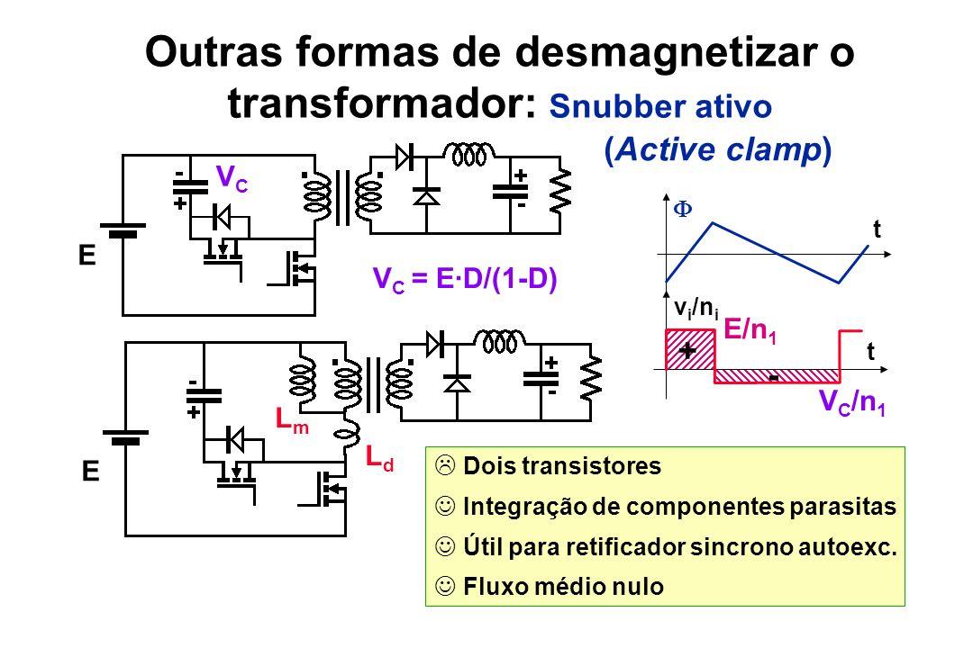 Outras formas de desmagnetizar o transformador: Snubber ativo